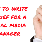 How to write a brief for a social media manager